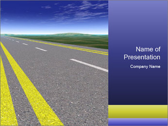 Newly Built Asphalt Road PowerPoint Template