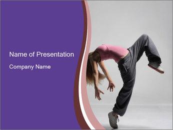 Girl Dancing Jazz Modern PowerPoint Template