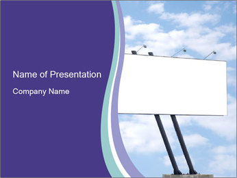 Blank Advertisement Board PowerPoint Template