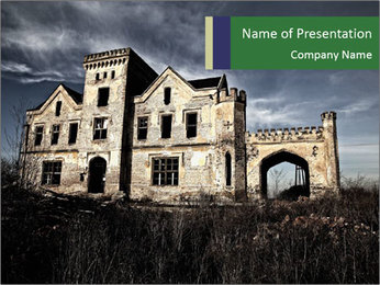 Old Mansion PowerPoint Template