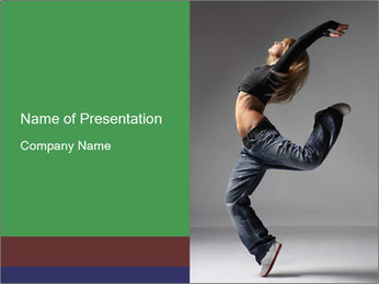 Young HipHop Dance PowerPoint Template