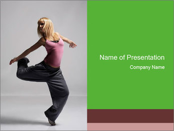 Young Jazz Funk Dance PowerPoint Template