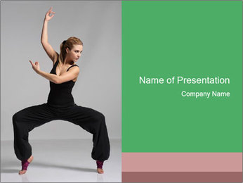 Dancing Stretching PowerPoint Template