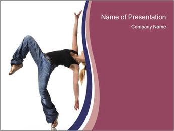 Young Jazz Modern Dancer PowerPoint Template