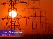 Electricity Pylons PowerPoint Templates