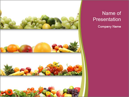 Fresh And Healthy Food Powerpoint Template & Backgrounds Id