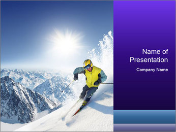 Professional Skier PowerPoint Template