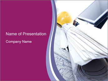 Rolled Draft PowerPoint Template