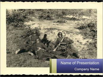 World War II Postcard PowerPoint Template