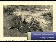 World War II Postcard PowerPoint Templates
