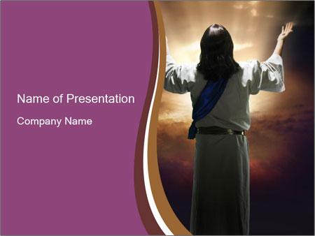 resurrection powerpoint template smiletemplates com