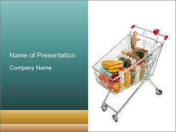 Supermarket Shopping Cart PowerPoint Template