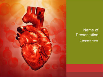 Red Human Heart PowerPoint Template