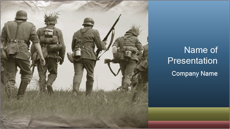 soldiers in german military uniform powerpoint template backgrounds