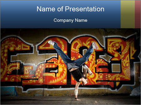 Breakdancer posing on graffiti wall powerpoint template breakdancer posing on graffiti wall powerpoint template toneelgroepblik Image collections