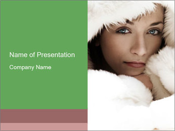 Lady in White Fir PowerPoint Template
