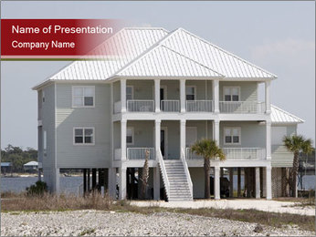 Holiday House on the Beach PowerPoint Template