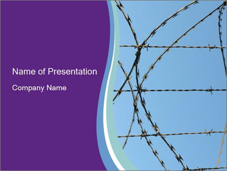 Protective barbed wire in the prison powerpoint template protective barbed wire in the prison powerpoint template toneelgroepblik Choice Image
