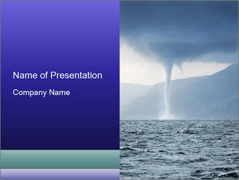 Tornado over the Sea PowerPoint Template