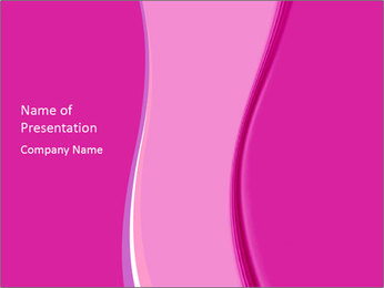 Pink Abstract Wave PowerPoint Template