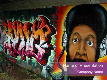 Illegal street art powerpoint template backgrounds id 0000012886 illegal street art powerpoint template toneelgroepblik Image collections