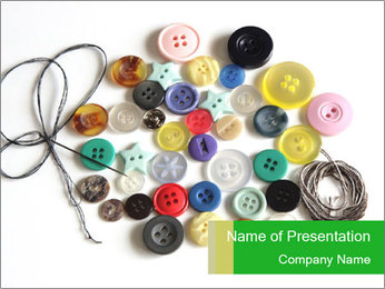 Cute Buttons PowerPoint Template