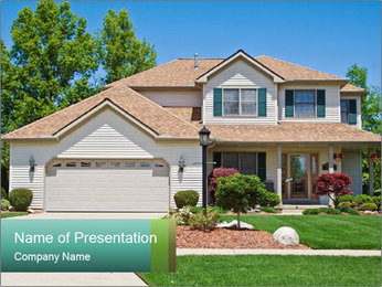 American Cottage PowerPoint Template