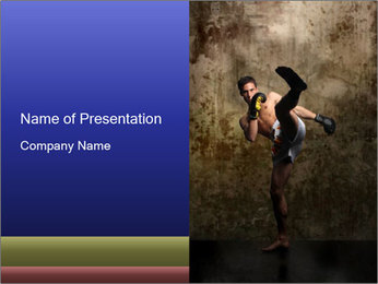 Violent Fighter PowerPoint Template