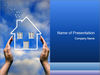 House in Blue Sky PowerPoint Template