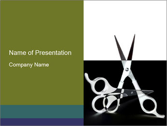 Sharp Scissors PowerPoint Template