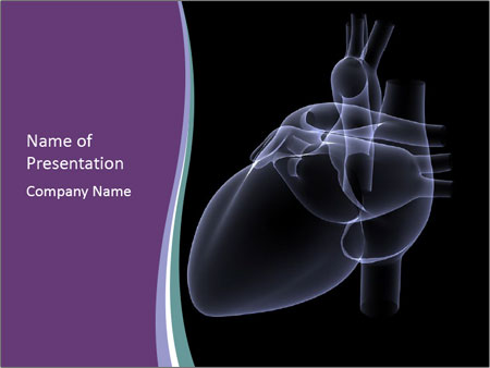 Human heart x ray powerpoint template backgrounds id 0000012957 human heart x ray powerpoint templates toneelgroepblik Choice Image