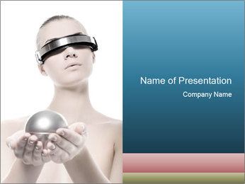 Futuristic 3D Glasses PowerPoint Template