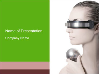 Futuristic Glasses PowerPoint Template