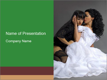 Lesbian Wedding PowerPoint Template