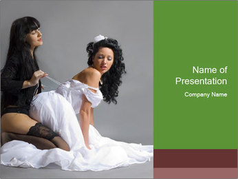 Lesbian Marriage PowerPoint Template