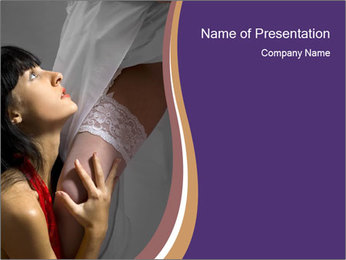 Bride with Best Friend PowerPoint Template