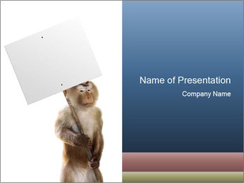 Monkey Holding Board PowerPoint Template