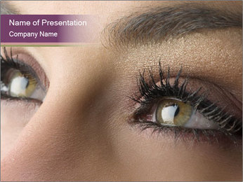 Black Eyelashes PowerPoint Template