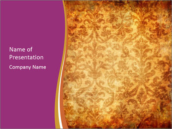Wallpaper in King's Palace PowerPoint Template