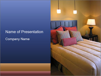King Size Bed PowerPoint Template
