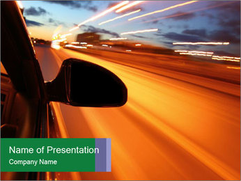 Empty Road at Night PowerPoint Template