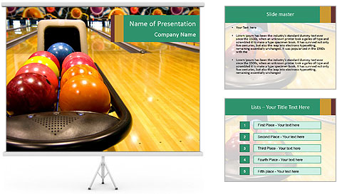 bowling competition powerpoint template backgrounds id