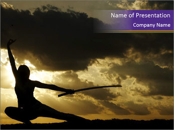 Silhouette of Samurai PowerPoint Template