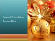 Golden Decor for Christmas PowerPoint Templates