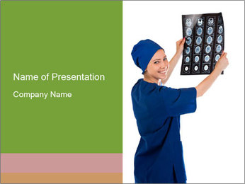 Doctor Examining X-Ray Image PowerPoint Template