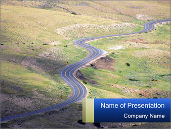 Road in the Mountains PowerPoint Template