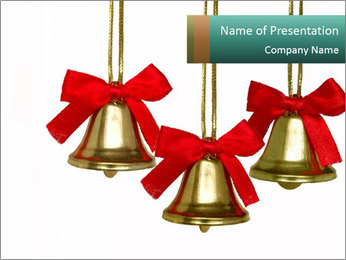 Three Chistmas Bells PowerPoint Template