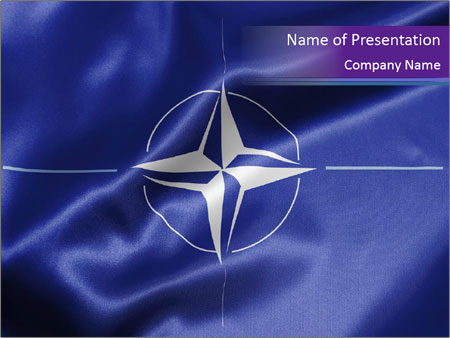 official flag of nato powerpoint template & backgrounds id, Powerpoint templates
