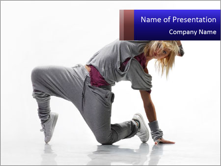 Modern dance powerpoint template backgrounds id 0000013313 modern dance powerpoint template toneelgroepblik Choice Image