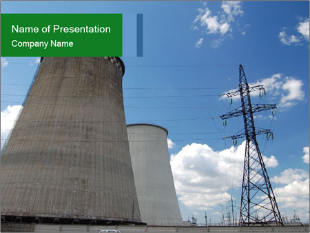 nuclear power plant powerpoint template & backgrounds id, Powerpoint templates
